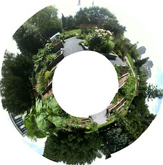 City Hall Gardens_stereographic (wade in da water) Tags: canada beauty vancouver britishcolumbia pacificnorthwest westcoast stereographic beautifulcapturegroup wadeindawater picniktools amemoryofourdailylife iphone3gs
