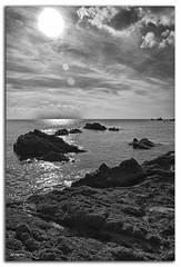 marina de tardor (campru) Tags: bw sun sol marina mar bn costabrava blancinegre roques