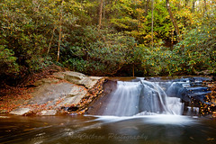 Wildcat Creek Water Slide (John Cothron) Tags: autumn usa fall nature water rock forest 35mm canon georgia landscape morninglight waterfall outdoor smooth environment protected clarkesville rabuncounty chattahoocheeoconeenationalforest johncothron 5dmkii wildcatcreekroad cothronphotography wildcatwaterslide