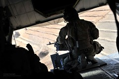 RAF Merlin Helicopter Gunner over Afghanistan (Defence Images) Tags: uk afghanistan man male army military rear equipment helicopter merlin british op operation campaign defense gunner defence raf afganistan personnel herrick royalairforce helmand gpmg hc3 nonidentifiable
