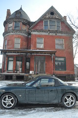 Alfred Place Jan 2012 (themaskedman55) Tags: park old winter house tower century anne downtown metro detroit january victorian ruin brush queen age empire second restored mansion gilded 19th edmund nineteenth alred