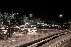 Calgary Downtown (Sarhan A) Tags: calgary night calgarydowntown calgarynight
