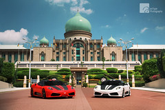 Europeans in Asia (anType) Tags: red white black sports car asia ferrari exotic malaysia modified kualalumpur putrajaya tuning 777 luxury coupe scuderia limitededition supercar v8 747 matte sportscar modded f430 430 tuned edizione worldcars finaledition novitecrosso iktikadraya