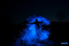 Spooky! {Published} (Gareth Brooks) Tags: longexposure lightpainting spooky smokey elwire bluemist electroluminescentwire nikond90