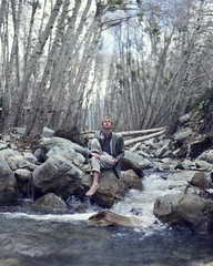 He doesn't know why. (David Talley) Tags: california trees mountains clouds creek forest river woods rocks mt pentax branches southern socal blazer baldy mtbaldy kx baldymountain fleetfoxes 365project davidtalley