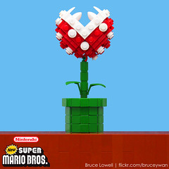 LEGO Piranha Plant (bruceywan) Tags: plant game fly video venus lego brothers nintendo super mario sphere nes bros gameboy trap photostream piranha snes lowell moc koopa wii lowellsphere brucelowellcom lowellspherebl