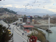 Birds flying over Berat (MrAlbalover) Tags: hotel albania lumi palma 2012 gorica berat rruga universiteti osum tomorri beratit antipatrea mangalemi