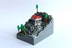 Temple of Jugatinus (peggyjdb) Tags: rock greek lego roman microscale paganworship templejugatinus