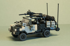 "Volvo C404 ""Black Dog"" (Aleksander Stein) Tags: light storm volvo lego military special vehicle operations purpose patrol multi commando iveco wolfhound sentry armoured tactical ndc rws c404 m226 ampv"