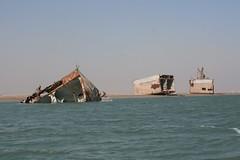 Wreck of the Tambur, Khor al-Zubair, Iraq