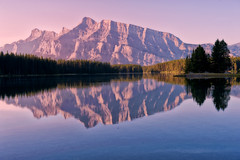 Early Morning Light at Two Jack Lake (Jeff Clow) Tags: morning reflection nature landscape mountrundle albertacanada banffnationalpark twojacklake
