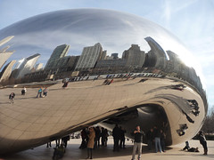 Cloud Gate Chicago Millenium Park (Katy Silberger) Tags: chicago reflections milleniumpark millenniumpark cloudgate reflexions flickraward flickraward5