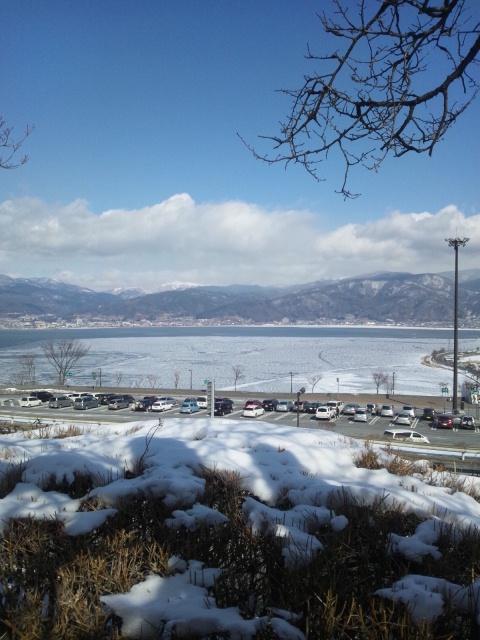 諏訪湖なう。の写真