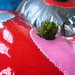 A Vegan island (surface detail) - Dimensions variable. Found inflatable sofa, reclaimed plastic, artificial turf