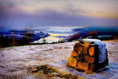 Loch Garry (mr.nik) Tags: bridge winter snow mountains ice landscape scotland landscapes frozen highlands outdoor stones production loch viewpoint showcase lochgarry onflickr 500px swpp tiffenfeatured
