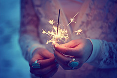 she believes in magic (AmyJanelle) Tags: blue light focus purple fireworks magic rings pick sparkler tones