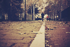 boulevard of broken dreams (TIBBA69) Tags: street people colors leaves foglie canon vintage eos strada boulevard persone tamron colori 18200 viale 500d boulevardofbrokendreams andreatiberini
