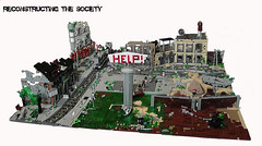 The end of Luck - Reconstructing the Society (MAIN PICTURE) 1/6 (Mcshipmaster) Tags: train hospital fight war lego metro apocalypse help swamp huge bombs society moc reconstructing
