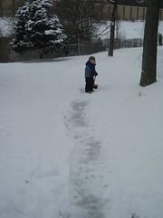shoveling is cool
