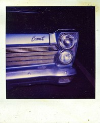 Heavenly Autobody (Wires In The Walls) Tags: film logo polaroid kentucky headlights grill chrome newport 600 scanned 1997 comet 1990s