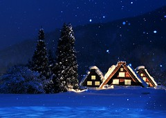 (SHIRAKAWAGO) (Jennifer ) Tags: snow cold japan lightup shirakawago
