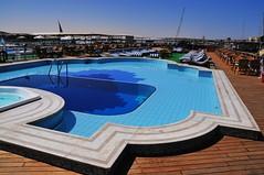 Swimming pool on deck (Melinda ^..^) Tags: cruise river boat egypt nile  nilecruise
