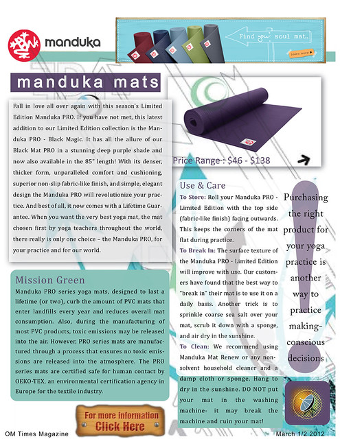 SACREDspace March 1/2 2012 : The 411 on Yoga Stuff & Props (pg2)