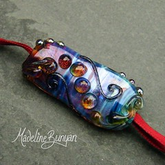"""Shimmering Rainbow Lampwork Large Focal Bead - abstract • <a style=""""font-size:0.8em;"""" href=""""https://www.flickr.com/photos/37516896@N05/6842264557/"""" target=""""_blank"""">View on Flickr</a>"""