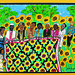 Sunflower Quilting Bee by Faith Ringgold, 1996, Lithograph, 95/100, The Rutgers Center for Innovative, Print and Paper, New Brunswick, NJ