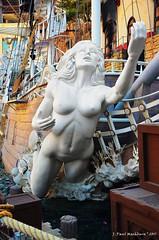 Siren of Treasure Island (Paul's Captures (paul-mashburn.artistwebsites.com)) Tags: statue naked breast treasureisland lasvegas pirates maleform femaleform nudestatue statuesinlasvegas