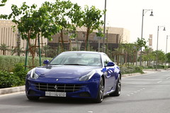 Ferrari FF (Flsimages) Tags: auto camera new old blue car yellow club race photo automobile desert low tan middleeast fast ferrari historic saudi arabia hatch riyadh saudiarabia rare ff ksa photoclub diriyah diryah