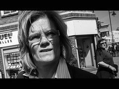 --- (dagomir.oniwenko1) Tags: street england blackandwhite woman eye boston eyes women candid lincolnshire eyeglasses