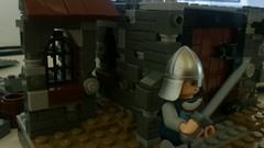 Une ville dans la province (WIP) (Theodor M.) Tags: city castle landscape soldier la town village lego helmet wip sword knight crown province ville dans une minifigure moc legoman a minifigur minifiger sirlegomand