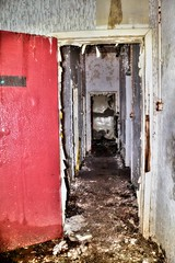 Orphanage Hallway (Michelle O'Connell Photography) Tags: school abandoned alone darkness corridor hallway grime derelict urbex childrenshome abandonedschool abandonedorphanage michelleoconnellphotography orphanagescotland