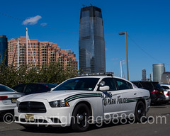 NJ State Park Police Car, Liberty State Park, New Jersey (jag9889) Tags: auto park usa car newjersey jerseycity automobile unitedstates outdoor unitedstatesofamerica nj police headquarters transportation policecar vehicle dodge chrysler lawenforcement patrol gardenstate libertystatepark lsp hudsoncounty 2016 goldmansachs firstresponder policepatrolcar jag9889 20160508