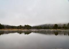 20160514_DSC2480 (Todd Plunkett) Tags: usa lake water weather fog colorado unitedstates parks estespark vacations rockymountainnationalpark spraguelake 2016rockymountainnationalpark