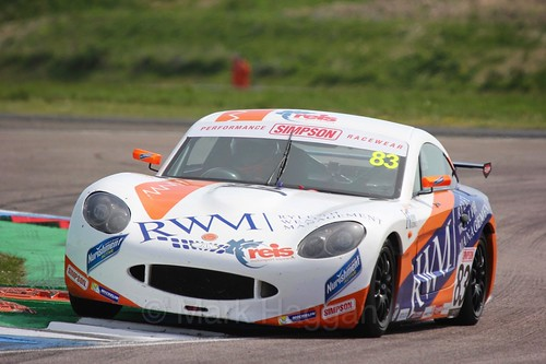 Kyle Hornby in Ginetta Juniors during the BTCC Thruxton Weekend: 8th May 2016