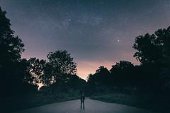 Rise. (velvetgoldmine82) Tags: park uk trees portrait moon film nature downs stars nikon angle south wide astro wanderlust national astrophotography rise longexpsoure 1424 vsco