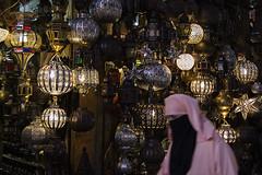 Moroccan lamps (I'M (Iris Martnez)) Tags: woman morocco marrakech streetphoto lamps bazaar mujerlmparas