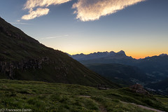 Ammirando l'alba (cesco.pb) Tags: italy mountains alps sunrise canon dawn italia alba alpi montagna trentino dolomites dolomiti dolomiten valdifassa tofane passopordoi trentinoaltoadige canoneos60d tamronsp1750mmf28xrdiiivcld
