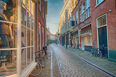 Sunday Morning 8 A.M. (Alfred Grupstra Photography) Tags: windows reflection haarlem nederland nl steet noordholland
