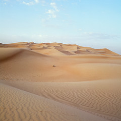 Desert Sunset - Fuji Provia 400X (magnus.joensson) Tags: sunset zeiss landscape sand dubai fuji desert outdoor dunes dune hasselblad arabia handheld 60mm provia e6 cfi distagon 500cm 400x