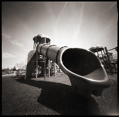 Playground # 1 (WPPD) (DRCPhoto) Tags: 6x6 kodak t400cn 2016 wppd ondu lenslessphotography worldpinholephotographyday2012