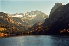 Gosausee (Katarina 2353) Tags: autumn sunset film landscape austria sterreich nikon europe gosausee katarinastefanovic katarina2353