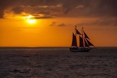 """Sunset Over The Keys"" (geofotousa) Tags: ocean sunset seascape sailboat landscape florida sunsets keywest tallship travelphotography cloudsstormssunsetssunrises"