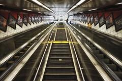 new york subway station (twurdemann) Tags: city newyorkcity urban newyork stairs tile unitedstates manhattan escalator streetphotography 5thavenue midtown transportation fifthavenue grime eline stairwaytoheaven bleachbypass rapidtransit mline metropolitantransportationauthority nikcolorefex glamourglow detailextractor xf14mm fujixt1 2016tripnewyork