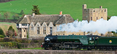 60163 Tornado steaming past Stokesay castle (Peter-snottycat) Tags: castle train shropshire loco steam past tornado steaming stokesay 60163