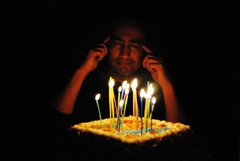 Make A Wish (Mr. Caulfield) Tags: birthday face cake lights candles thought candle darkness brother think thinking wishes happybirthday wish wishing birthdaycandles makeawish