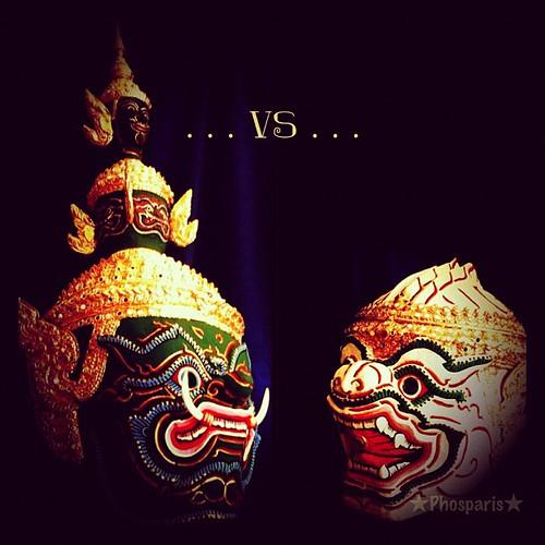 หนุมานปะทะทศกัณฐ์  #Hanuman #vs #Ravana #Khon #Ramayana #Costume #iphoneography