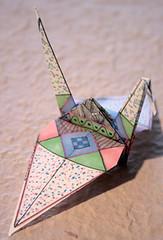 crane ruth sm (Kalona Creativity) Tags: friends halloween work origami crane flags doodle boxes swaps pockets atcs kalona inchies milliande